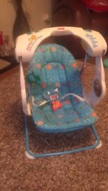 Fisher Price musical light up seat with optional swinging motion