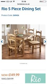 Rio dining table and chairs