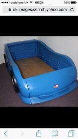 Little tikes blue car bed