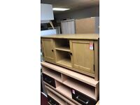 2 door TV unit - wood
