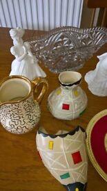 Job Lot Box Of 12 Ornaments,Vases Etc
