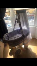 Lovely girls Moses basket £80 Ono