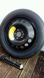 Volvo 17 inch spare wheel and volvo jack