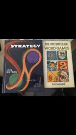 Strategy & Word Games books, and free cooking book.
