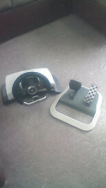 stering wheel and pedals Xbox 360