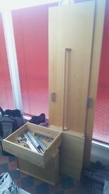Parts for Ikea PAX wardrobe 200cm height (doors, drawers, shelves, bar and more)