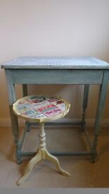 up-cycled side tables