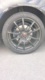 "18"" alloys, alloy wheels. Swap!!"