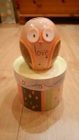 Owl money box / piggy bank - BOX - CAN BE DELIVERED