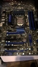 i7 870 & MSI P55 GD80 motherboard