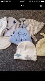 Baby boys new hats 0-3