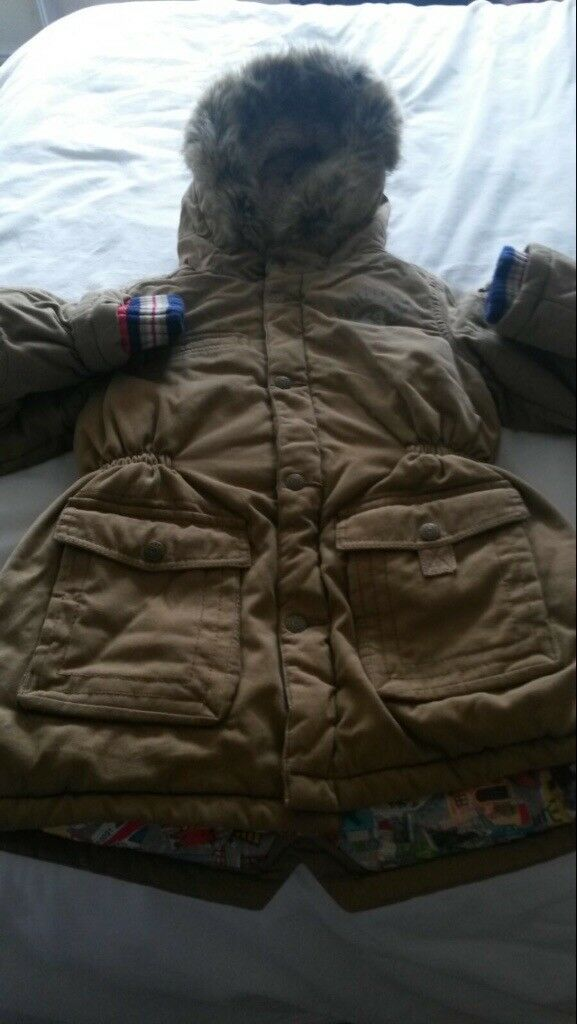 Boys beige oilily coat brand new