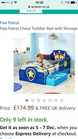 Paw patrol cot bed with storage