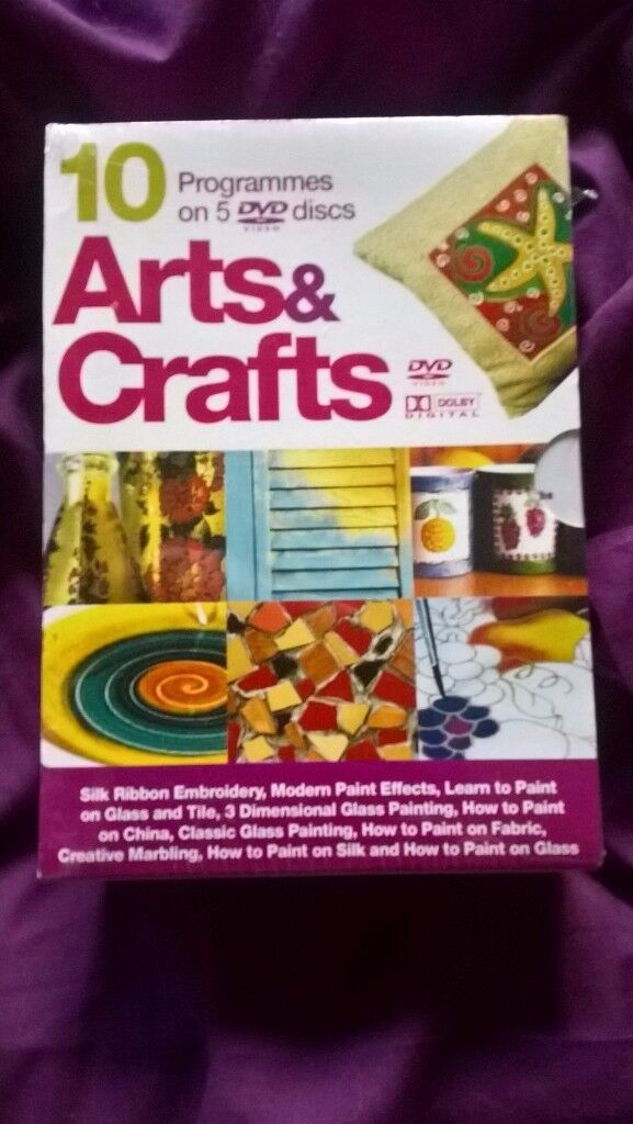 Arts And Crafts DVD 10 Programmes On 5 DVD Discs
