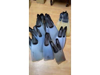 11 PAIRS OF DIVING / SNORKELLING FINS