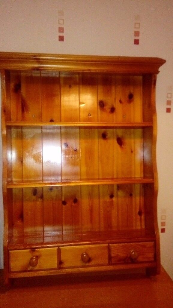 Real pine wooden wall unit | in Runcorn, Cheshire | Gumtree