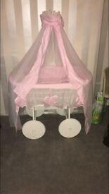 beautiful pink baby basket