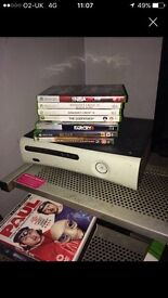 Xbox 360 with games, controller not included