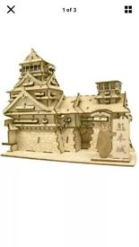 Kumamoto Wooden Architecture 3D Puzzle Brand New and Sealed