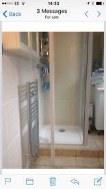 Glass Shower cubical corner bathroom unit great condition clean
