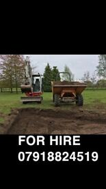 Mini Digger and Driver Hire Groundworks