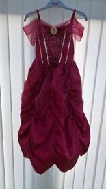 Disney Princess Belle Dress 5- 6 years with Hooped Skirt