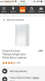 B&Q BRAND NEW Bathroom Wall Cabinet