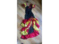 Ladies SPANISH dancer fancy dress costume. Size Medium