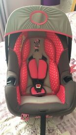 Minnie Mouse Baby Car Seat 0+ Excellent Condition