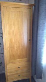 Single Wardrobe , Bedside Cabinet (ex M&S) plus Single Pocket Sprung Bed (ex Bensons)