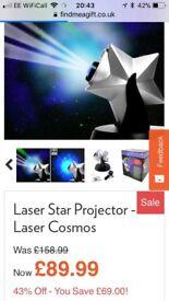 Laser Twilight Stargazer light, transforms your room into an animated night sky