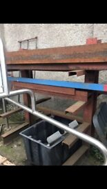 STEEL FRAME FOR LENGTHS OF STEEL OR TIMBER