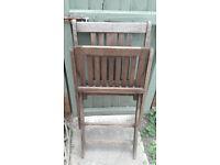 BillyOh Hampton Folding Garden Chair x 3