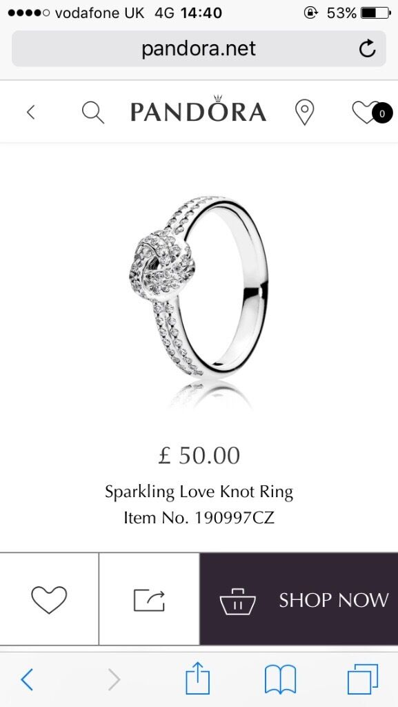 482a63f82 ... spain pandora ring size 56 as new with box and receipt f0f70 813cc ...