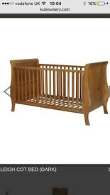 Sleigh Cot bed and Mattress