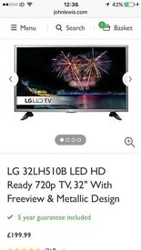 "32"" LG LED TV, Brand new in box, comes with warranty"