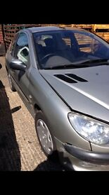 Peugeot 206 LX, 3 door, silver, great first time buy.