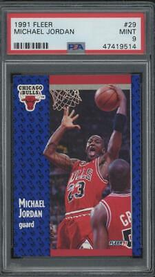 1991 Fleer #29 Michael Jordan Chicago Bulls Mint PSA 9
