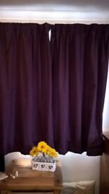 Purple Black-out Curtains - TWO PAIRS