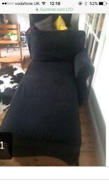Ikea dark blue chaise longue