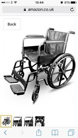 Wheelchair very good condition with accessories