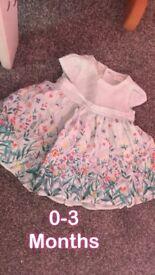 John Lewis baby flower dress