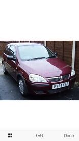 2005 red Vauxhall automatic car