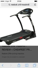 Reebok zr9 treadmill excellent condition great treadmill loads of different settings