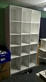 large white shelving case, could do with a clean 2M x 1.5M