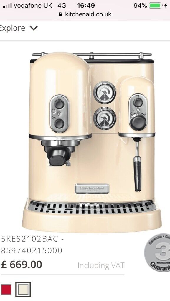 Coffee Machine Kitchenaid Artisan Espresso Machine 5kes2102 Brand New In Southampton Hampshire Gumtree