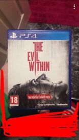 Brand new The Evil Within for PS4. Never been played on.