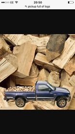 Logs . Fire wood £75 a large load . Free delivery