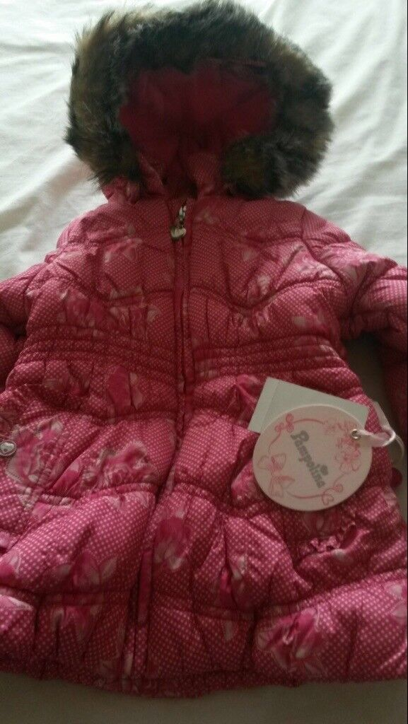 Pink Pamplina coat with hood