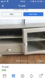Painted tv unit
